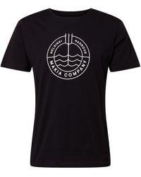 Makia T-Shirt 'Trident' - Schwarz