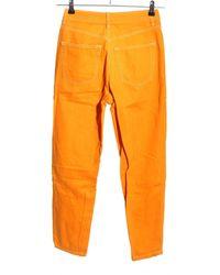 TOPSHOP High Waist Jeans - Orange