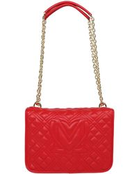 Love Moschino Umhängetasche 'BORSA QUILTED NAPPA PU ROSSO' - Rot