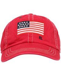 Polo Ralph Lauren Cap 'COTTON CHINO TWILL-ICONIC CAP' - Rot
