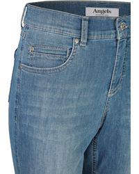ANGELS Capri-Jeans ,Cici TU' mit leichter Used-Waschung - Blau