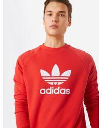 adidas Originals Sweatshirt 'Trefoil' - Rot