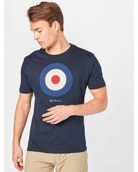 Ben Sherman T-Shirt 'TARGET' - Blau