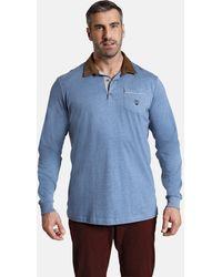 Charles Colby Shirt ' Earl Terry ' - Blau