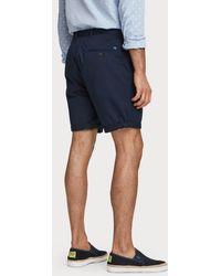 Scotch & Soda Chino Shorts im 5-Pocket-Stil - Blau