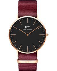 Daniel Wellington Uhr 'Classic 40 Roselyn' - Rot