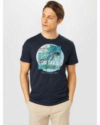 Tom Tailor T-Shirt mit Print - Blau