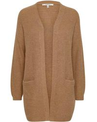 B.Young Strickjacke 'BYOLYMPIA LS' - Natur