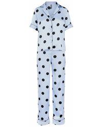 Pieces Pyjama - Blau