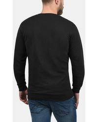 Solid Sweatshirt 'Kian' - Schwarz
