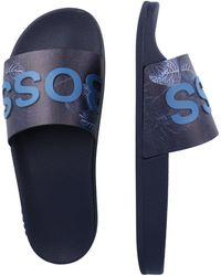 BOSS by Hugo Boss Pantolette 'Bay' - Blau