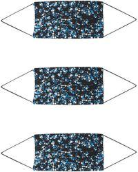 ONLY Stoffmasken '3er Pack ONLCOMMUNITY' - Blau