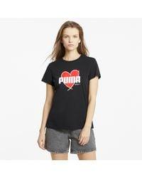 PUMA T-Shirt 'Heart' - Schwarz