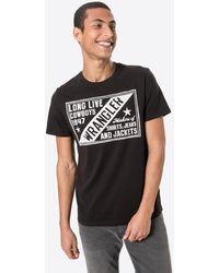 Wrangler Shirt 'AMERICANA' - Schwarz