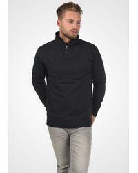 Solid Sweatshirt 'Jorke' - Schwarz