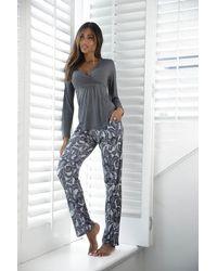 Lascana Pyjama - Grau