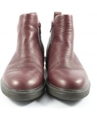 Ecco Reißverschluss-Stiefeletten - Rot