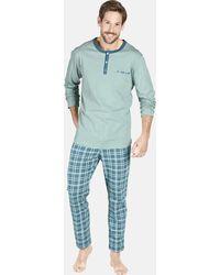 Jan Vanderstorm Schlafanzug ' Viggo ' - Blau