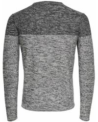 Only & Sons Kontrastfarbe Strickpullover - Grau