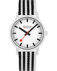 Mondaine Herren-Uhren Analog Quarz ' ' - Weiß