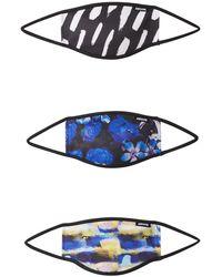 Hype Stoffmasken '3er Pack FLORAL BRUSH' mischfarben - Blau