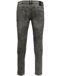 Only & Sons ONSloom Zip Grey Sweat Slim Fit Jeans - Grau