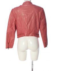 Guess Kunstlederjacke - Pink