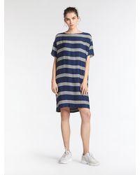 Sandwich T-Shirtkleid - Blau