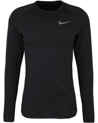 Nike - Sport-shirt ' pro warm' - Lyst