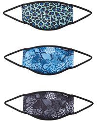 Hype Stoffmasken 3er Pack 'LEO MIX' mischfarben - Mehrfarbig
