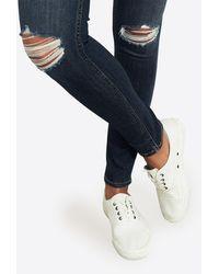Hollister Jeans 'BTS18-DARK KNEE SLITS' - Blau