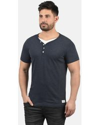 Solid Layershirt 'Dorian' - Blau