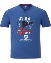 Jan Vanderstorm Kurzer Pyjama ' Bengt ' - Blau