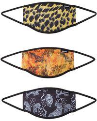 Hype Stoffmasken 3er Pack 'VINTAGE LEO' - Mehrfarbig