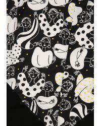 Doris Streich Dreieckstuch mit Allover-Muster - Mehrfarbig