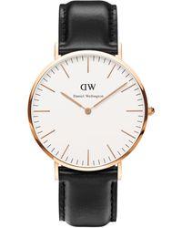 Daniel Wellington Uhr 'St. Mawes' - Schwarz