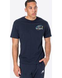 New Balance T-Shirt 'Athletics Circular Stack' - Blau
