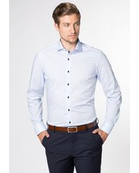 Eterna Langarm Hemd SLIM FIT - Blau