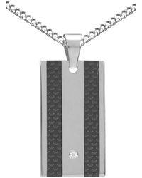 Firetti Halskette in Panzerkettengliederung mit Zirkonia - Grau