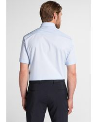 Eterna Kurzarm Hemd 'COMFORT FIT' - Blau