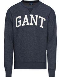 GANT Sweatshirt ́ Graphic C-Neck Sweat ́ - Blau