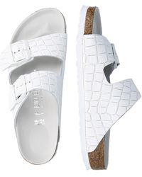 Birkenstock Pantolette 'Arizona' - Weiß