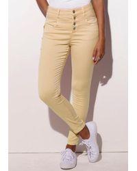 Lascana High-waist-Jeans aus Superstrech-Qualität - Gelb