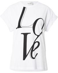 Second Female T-shirt 'love' - Weiß