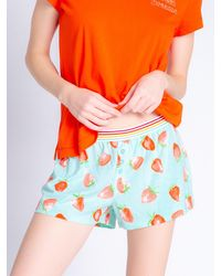 Pj Salvage Pyjamashorts ' Funny Style ' - Orange