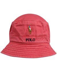 Polo Ralph Lauren HUT 'LOFT BUCKET CAP W/ MULTI PP' - Rot