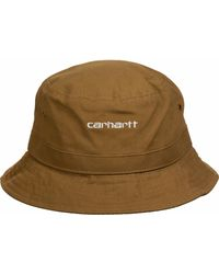 Carhartt WIP Bucket Hat ' Script ' - Braun