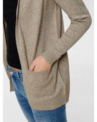 ONLY Strickjacke 'ONLLESLY L/S OPEN CARDIGAN KNT' - Natur