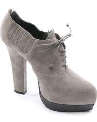 Bottega Veneta Stiefeletten aus Leder - Grau
