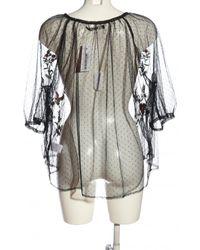 Bik Bok Transparenz-Bluse - Mehrfarbig